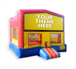 Custom Themed 2  in 1 Bounce House w/ hoop
