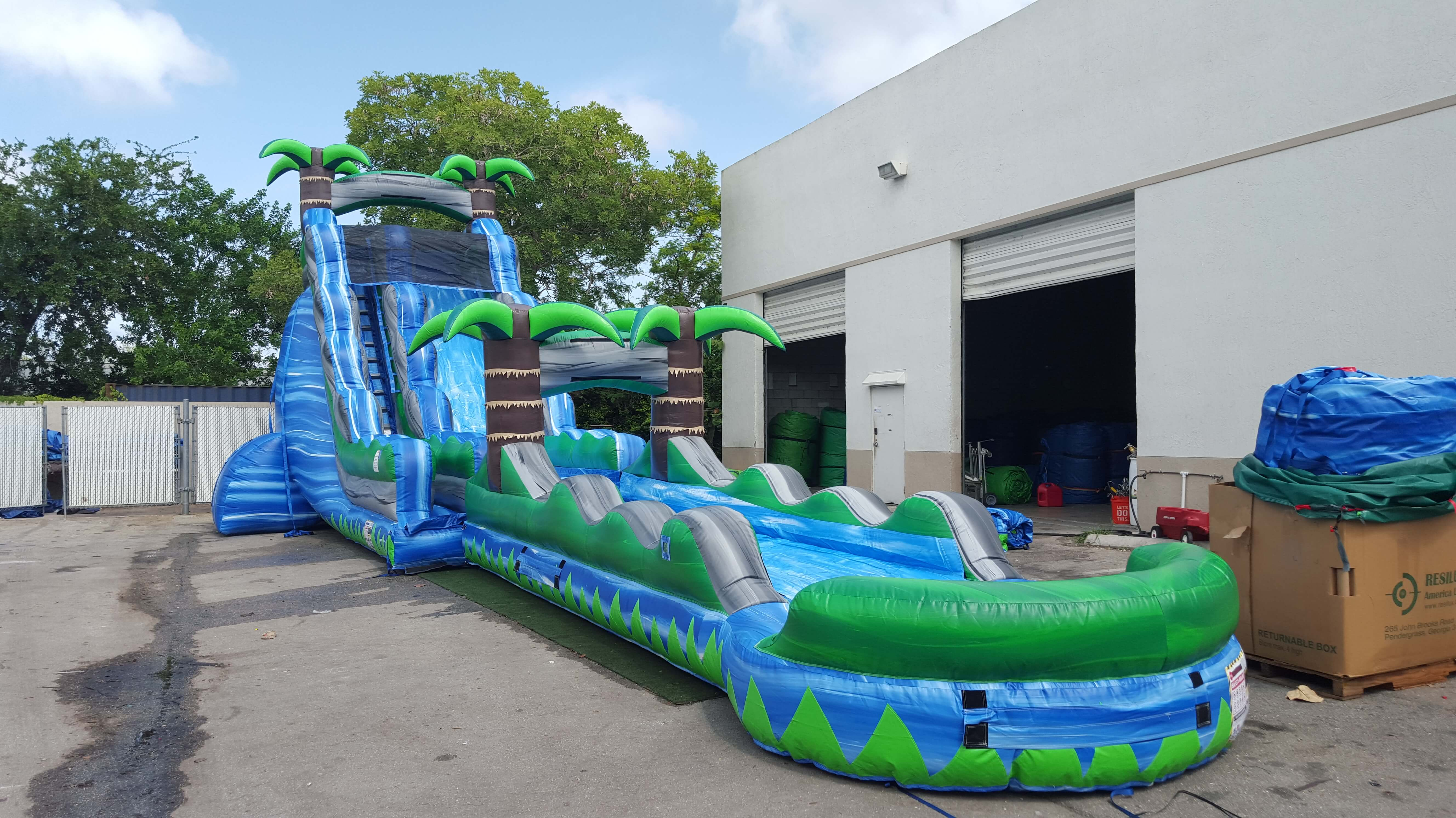category 5 w slip n slide and pool south florida bounce