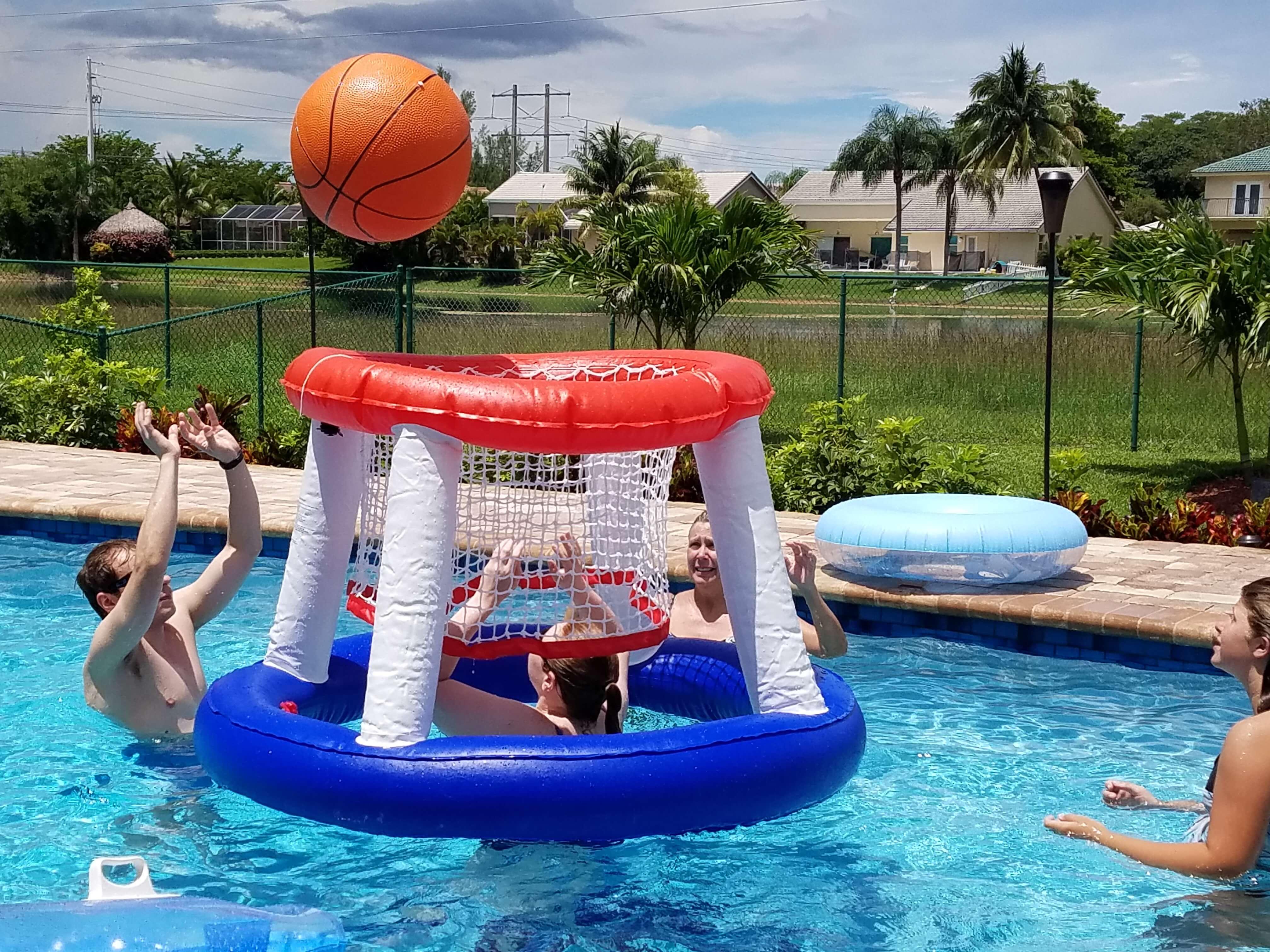 Small basketball hoop south florida bounce - Pool basketball ...