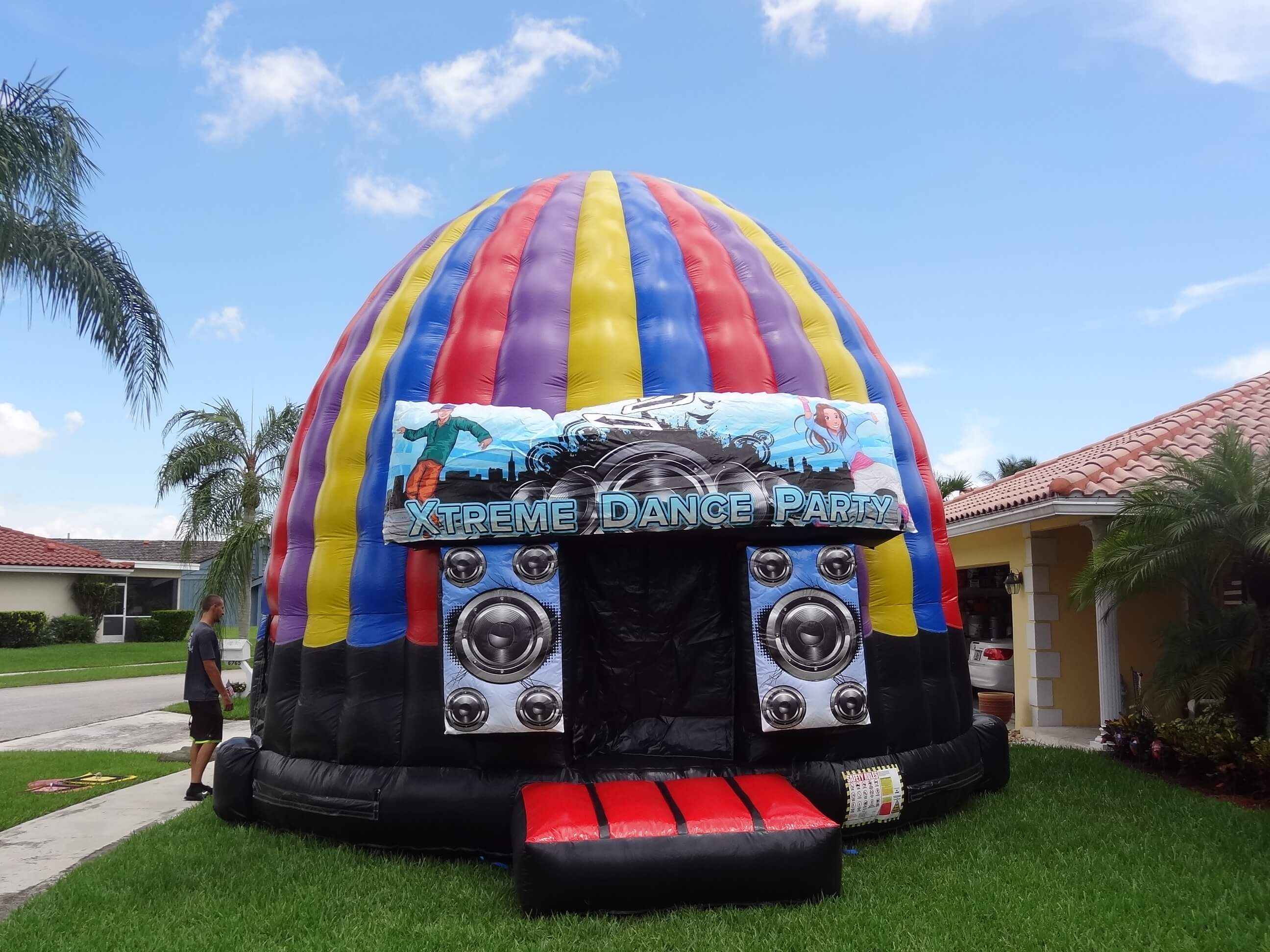 & Dance / Disco Dome Bounce House | South Florida Bounce