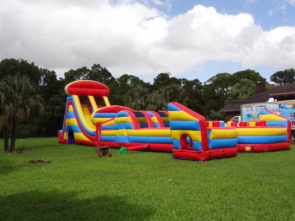 Radical Run Obstacle Course w/ 25ft Tall Slide
