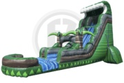 Emerald Crush Water Slide w/ Pool